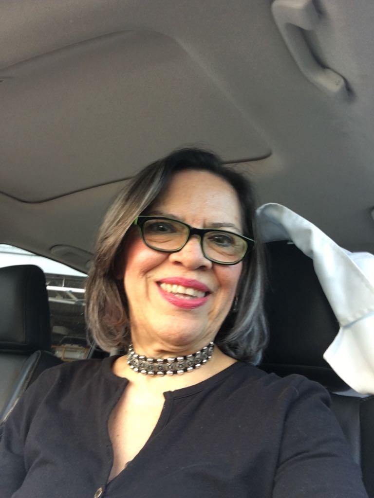 Nubita en su camioneta. 28 de septiembre 2017
